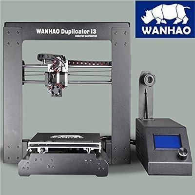 Wanhao i3 V2 - Impresora 3 D (precision de 0.1 mm, tamaño de la construcción: 200 x 200 x 180 mm, cama climatizada), plateado