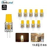 ELINKUME 10er Pack 4W G4 COB LED Lampen Ersetzt 25W Halogenlampen G4 LED Birnen 310LM Warmweiß AC/DC 12V LED Leuchtmittel 3200K