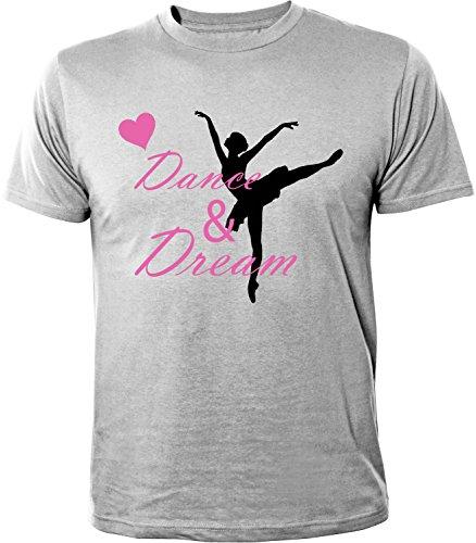 Mister Merchandise Herren Men T-Shirt Dance & Dream Tee Shirt bedruckt Grau