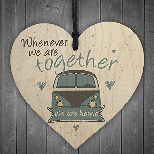 Rot Ocean zusammen Caravan Holz Schild zum Aufhängen Familie Shabby Chic Home Decor Schild Freundschaft Geschenk