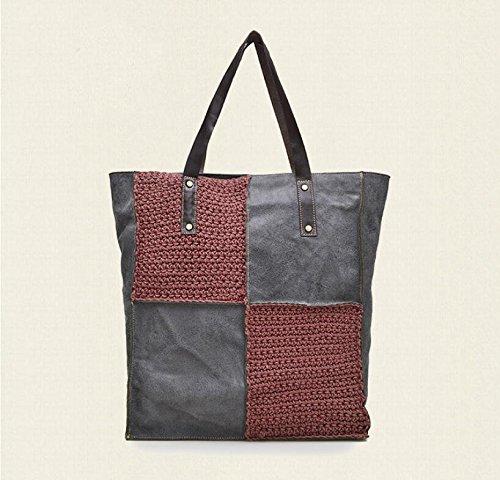 Mosaik-Tasche Tasche Tasche Schultertasche wine red