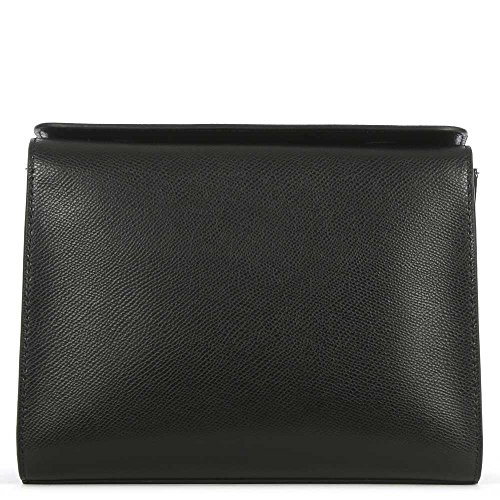 DKNY Bryant Park Noir Cuir Poche Frontale Bandoulière Sac Black Leather