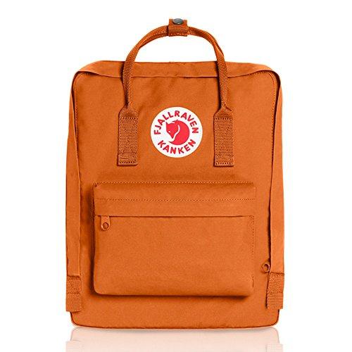 Fjällräven Unisex Rucksack Kånken, Orange (brick orange), 13 x 27 x 38 cm, 16 L, 23510-164 (Elle Tasche)
