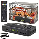 Comag HD25 Volks-Receiver + KFZ Kabel/Camping HDTV HD Satelliten Receiver Sat PVR Ready Aufnahme USB 2.0 DVB-S2 SCART HDMI EasyFind Easy Find 1080p Digital digitaler Satellitenreceiver 12V 230V