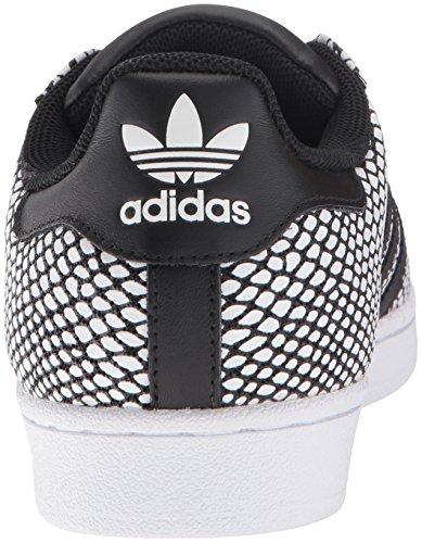 Adidas Superstar Snake Confezione Mens: S82730-rosso / WHT Dimensione: 7.5 M Us Black / White-Black