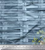 Soimoi Blau Viskose Chiffon Stoff überprüfen, Blätter