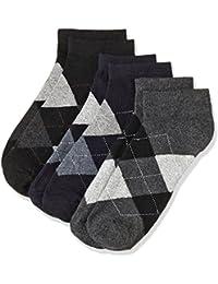 Amazon Brand - Symbol Men's Checkered Ankle Socks (Pack of 3)