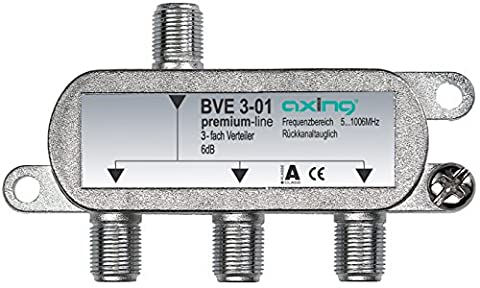 Axing BVE 3-01 3-way Splitter for CATV DVB-T (5-1006 MHz)