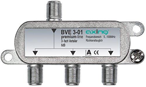 Axing BVE 3-01 3 fach BK-Verteiler mit abnehmbarem Montagesockel