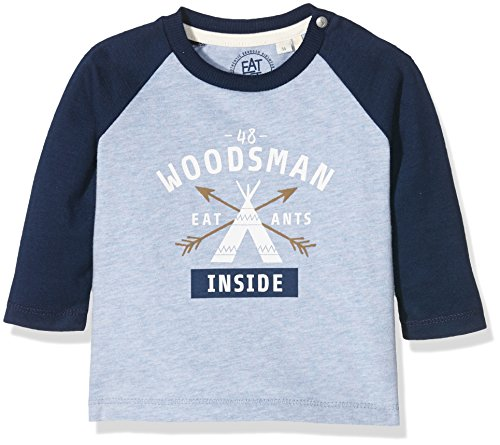 Sanetta Baby-Jungen Langarmshirts 113751, Blau (Pacific Blue 50178), 80 (Shirt Hoch Pacific)
