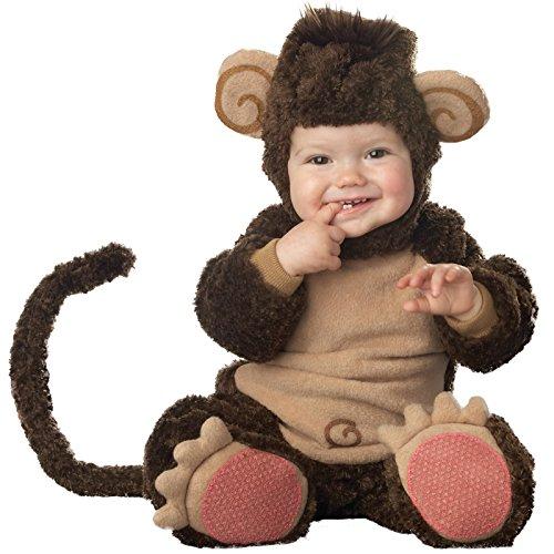 Affen-Kostüm für Babys mit lustigen Ohren - Premium 80/86 (18-24 ()