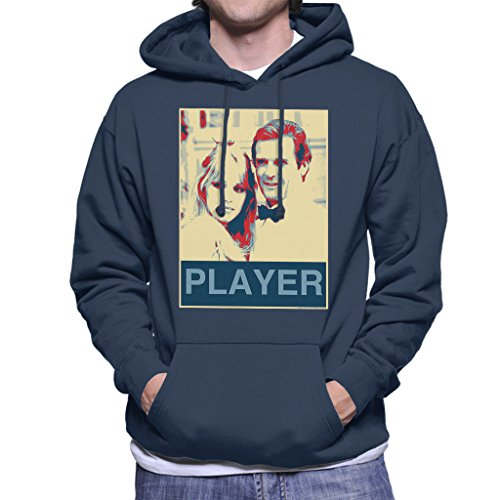 Roger Moore Tanya Roberts James Bond 007 1985 Player Poster Style Men's Hooded Sweatshirt