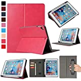 ZOC Leather Case iPad 6th 2018 9.7 Kemile Ultra Slim W Pencil Holder Wake Sleep Cover For iPad 2017 2018 A1893 A1954 Case Rose Red