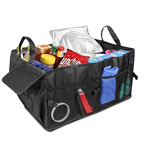 Sac de coffre 2en 1, Topist de voiture de stockage boîte de rangement pour bagages Box pour voiture, SUV, Monospace (véhicule), camion, idéal Shopping pliable de rangement pliable