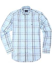 Mc Gregor chemise à manches longues White Light Blue Black MC870-890