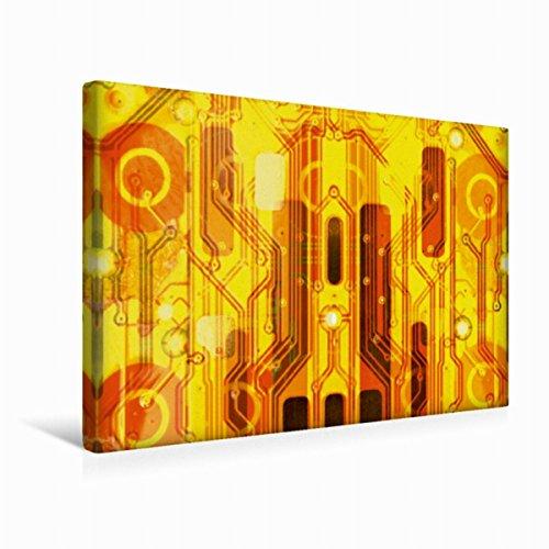 Strukturierte Leinwand Kunst (Calvendo Premium Textil-Leinwand 45 cm x 30 cm quer Kirche auf goldenem Hintergrund | Wandbild, Bild auf Keilrahmen, Fertigbild auf echter Leinwand. Macht Sich Immer gut Technologie Technologie)