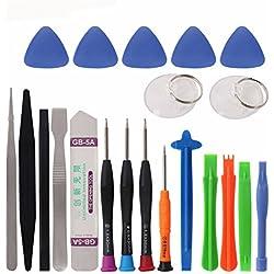 COHK - Kit de réparation de téléphone avec 21 outils pour iPhone X, 8, 7, 6S, 6 Plus
