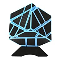 ThinkMax 3x3 Carbon Fiber Sticker Abnormity Cube Ghost Cube Intelligence Speed Magic Cube Puzzles Toy with 1 Cube Stand