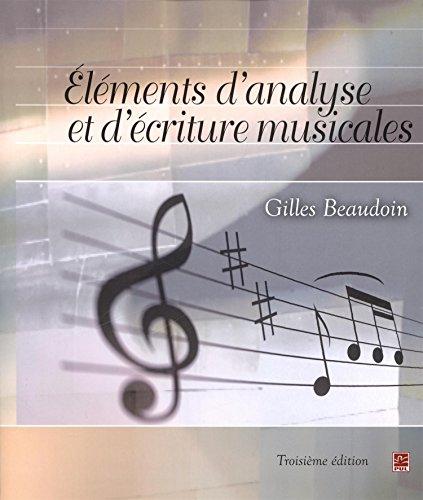 Eléments d'analyse et d'écriture musicales