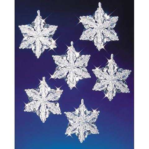 Vacanza di perline cristalli di neve-Kit ornamento fa 3-1/2
