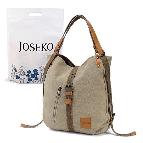 Zaino alla moda con tracolla, joseko zaino da viaggio borsa casuale multifunzionale di tela, per donna, grande capacità