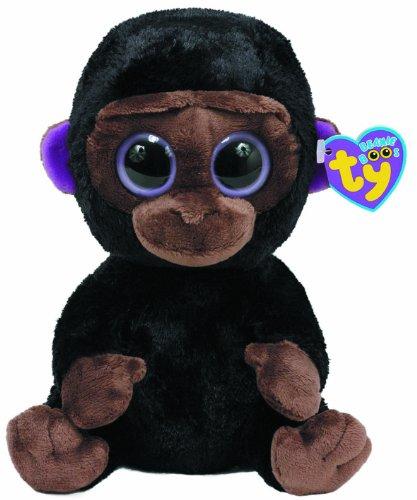 TY 7136962-Romeo Buddy-Gorilla Beanie Boos Large, 24 cm, braun