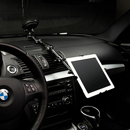 Infuu Holders KFZ Halterung Universal Saugnapf Scheibe für iPad 1 2 3 4 Air Pro Galaxy Tab Note Nexus 10 Tablet-PC 7-11 Zoll 008