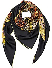 Helan femmes Réel Soie Naturelle 140 X 140 cm foulards carrés 04629000d85
