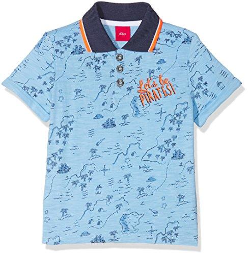 s.Oliver Baby-Jungen Poloshirt 65.804.35.5144, Blau (Light Blue AOP 53a7), 80