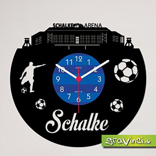 Schallplatten-Wanduhr Schalke Fan