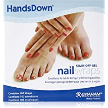 Graham Hands Down Soak Off Gel Nail Wraps, 100 Count by Graham