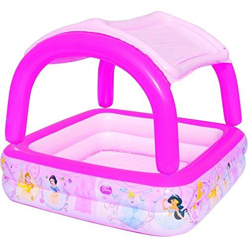Piscina Hinchable Infantil con Parasol Bestway Princesas Disney