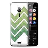 Stuff4 Hülle / Case für Nokia 230 / Zickzack Gewebe