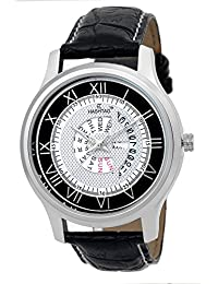 HASHTAG WHITE & BLACK DIAL DAY AND DATE DISPLAY WATCH FOR MEN