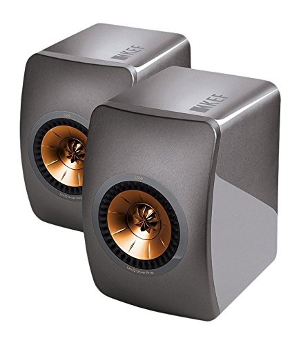 KEF LS50Lautsprecher-Lautsprecher (Universal, 2-Wege, Tisch/Regal, 100W, 47-45000Hz, 8Ohm) Titanium