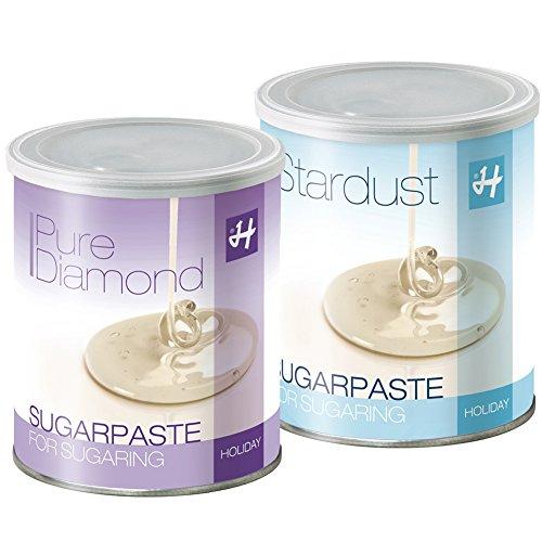 Zuckerpasten Pure Diamond (Soft) 1 kg + Stardust (Strong) 1 kg, Sugaring, langfristige Haarentfernung ohne Vliesstreifen in der Flickingtechnik
