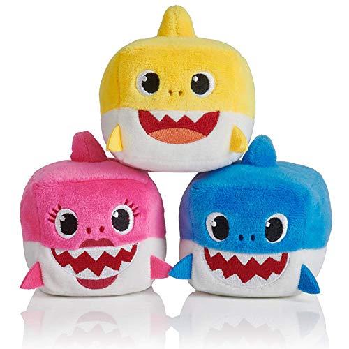 Karneshop 3Pcs Plüschtier Shark Baby Stofftiere Quadra Puppe quadratisch Shark Kinder Baby Tier Spielzeug mit Musik Geschenk (Daniel Tiger Halloween)