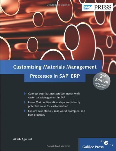 Customizing Materials Management Processes in SAP ERP 2nd edition by Agrawal, Akash (2012) Hardcover par Akash Agrawal