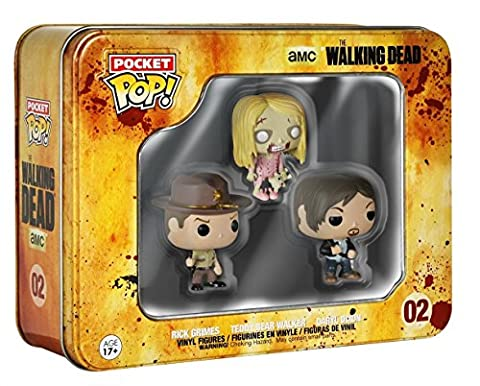 Funko Pocket Pop Toy - Walking Dead Vinyl Figures - Rick Grimes - Daryl Dixon - Zombie Walker Figure