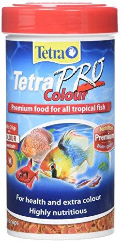 Alimento para peces tropicales de colores