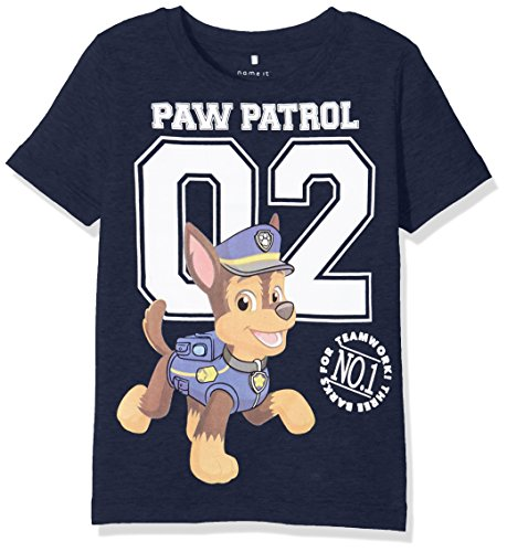 NAME IT Baby-Jungen T-Shirt Nitpawpatrol Alec SS Top MZ, Blau (Dress Blues), Gr. 86