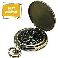 Preisvergleich für Dingsheng yuanhang Unisex Adult Premium Portable Taschenuhr Flip-Open Camping Wandern Kompass Outdoor Navigation Tools, Grun, 6.54.61.6