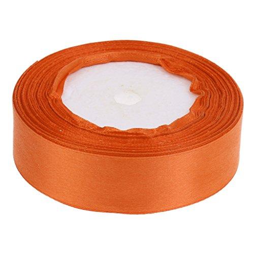 Non-brand 2,5 cm Breite Solide Double Face Satin Band DIY Handwerk Bogen Stuhl Sash - Orange, 220cm -