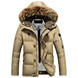 Best Warmest Winter Coats - Jitong Men Faux Fur Hooded Parka Winter Down Review