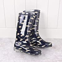 XIAYUT Rain Boots For Women,Fashion Simple Outdoor Unicorn Print Wear Resistant Slip Wellington Rubber Waterproof Rain Shoes Low Heeled Ladies
