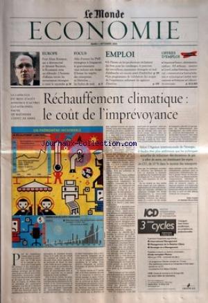 MONDE ECONOMIE (LE) du 02/09/2003 - EUROPE - POUR ALAIN KREMEUR, QUI A DESINSECTISE ET DERATISE BUCAREST, LA ROUMANIE RESTE UN ELDORADO FOCUS - AFIN D'ATTIRER LES PME ETRANGERES A SINGAPOUR, LE GOUVERNEMENT VEUT REDORER SON IMAGE EMPLOI - A L'HEURE OU LES PRODUCTEURS RECLAMENT DES BRAS POUR LES VENDAGES, LES PARCOURS DES TRAVAILLEURS SAISONNIERS ETRANGERS EN MAL D'EMBAUCHE EST ENCORE SEME D'EMBUCHES - LES PROGRAMMES DE VALIDATION DES ACQUIS DE L'EXPERIENCE SEDUISENT LES AGENCES D'INTERI par Collectif