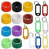 30 pz chiave Cap tag con 8 chiave etichetta Windows, FineGood plastica chiave anello colori della copertura tag con chiave per portachiavi bagagli borsa Pet identificativo