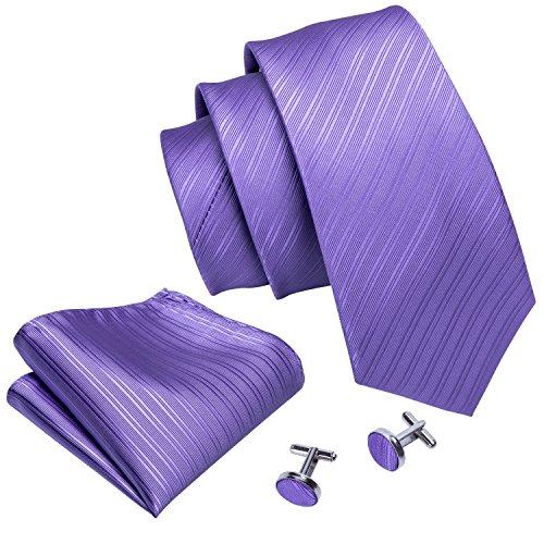 Barry.Wang - Conjunto - hombre Morado Violet Stripe