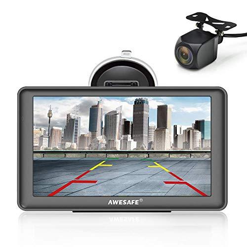 Auto Gps (AWESAFE Navigation GPS 7 Zoll Touchscreen Auto Navigationsgerät mit Lebenslang Karten-Updates (Europa) für 58 Länder und Taxi KFZ Navi)