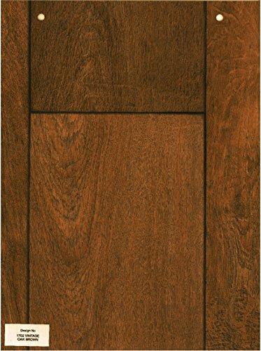 1702-Wood effect Vintage Oak brown Anti Slip Vinyl Flooring Home Office Kitchen Bathroom High Quality Lino Modern Design 3M Wide (Simply Oak) 3X4